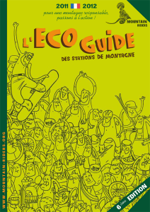 Eco guide des stations de montagne 2011-2012